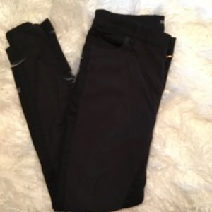 Express black snake print twill pants sz 10